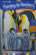 Penguins Medium Paint by Number Set