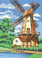 The Windmill, Medium Paint by Number