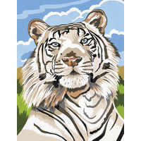 White Tiger Reeves Painting by Number