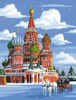 St. Basil's Cathedral, Medium Painting by Numbers