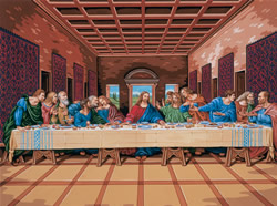 Leonardo DaVinci The Last Supper Paint by Number Set