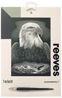 Bald Eagle, Reeves Scraperfoil Silver Set