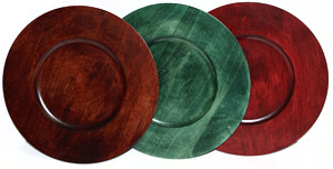 Stained Wood Charger Plates