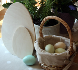 Wooden Egg Cutouts