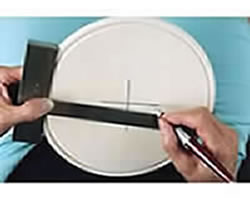 Wood Plate Instant Center Finder