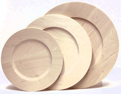 Wood Rim Plates & Unfinished Basswood Wooden Plates - Great for Decorative and Tole ...