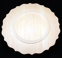 Beaded Scalloped Rim Plate