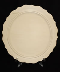 Beaded Scalloped Narrow Rim Plate