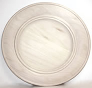 Wooden Double Beaded Rim Plate