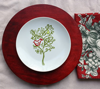 Cranberry Red Charger Plate