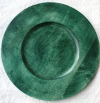 "12"" Dark Green Charger Plate"