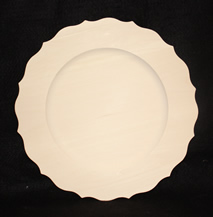 Scalloped Basswood Rim Plate