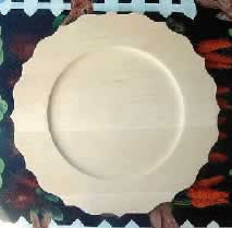 Wooden Plate Scalloped Rim