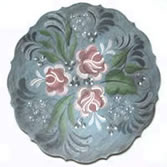 Scalloped Scoop Plate Painted