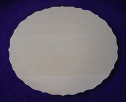 Scalloped Oval Flat Plate