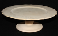 "12"" Scalloped Plate Stand"