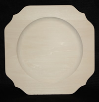 "10"" Scalloped Rim Square Plate"